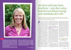 Britta Lundkvist i RBU:s tidning Utsikt